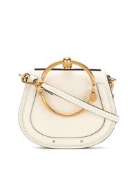 weiße Lederhandtasche von Chloé