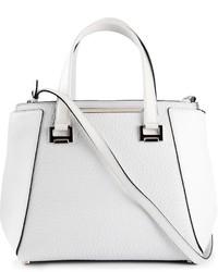 weiße Lederhandtasche von Jimmy Choo