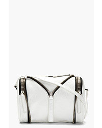 weiße Lederhandtasche von Kara