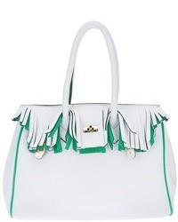 weiße Lederhandtasche von Leghilà