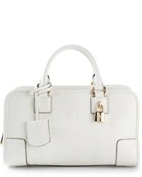weiße Lederhandtasche von Loewe