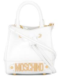 weiße Lederhandtasche von Moschino