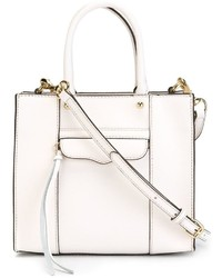 weiße Lederhandtasche von Rebecca Minkoff