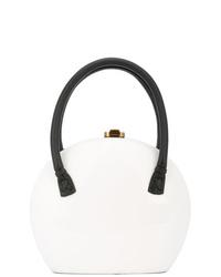 weiße Lederhandtasche von Rocio