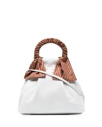 weiße Lederhandtasche von Trademark