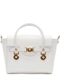 weiße Lederhandtasche von Versace