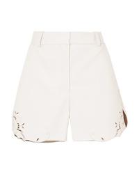 weiße Ledershorts von Stella McCartney