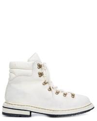 weiße Lederstiefel von Guidi