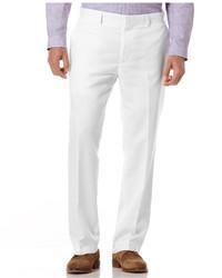 weiße Leinen Anzughose