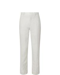 weiße Leinen Anzughose von Club Monaco