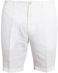 weiße Leinen Shorts