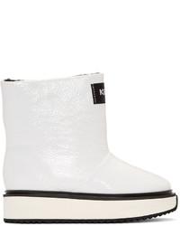 weiße mittelalte Stiefel von Kenzo