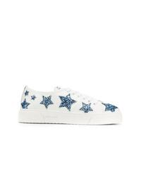 weiße niedrige Sneakers mit Sternenmuster von Miu Miu