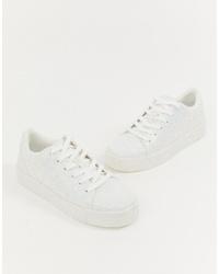 weiße niedrige Sneakers von Aldo