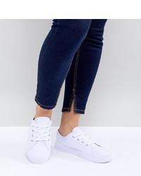 weiße niedrige Sneakers von ASOS DESIGN