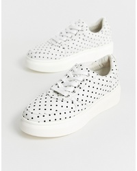 weiße niedrige Sneakers von Blink
