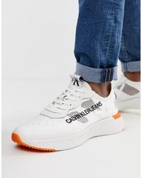 weiße niedrige Sneakers von Calvin Klein