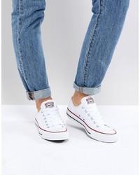 weiße niedrige Sneakers von Converse