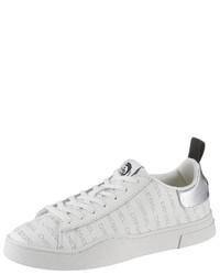 weiße niedrige Sneakers von Diesel