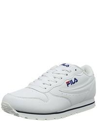 weiße niedrige Sneakers von Fila