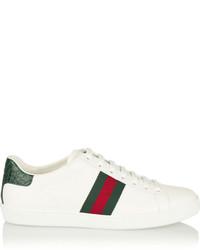 weiße niedrige Sneakers von Gucci