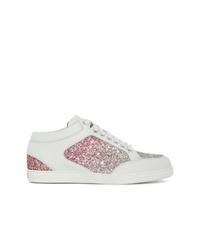 weiße niedrige Sneakers von Jimmy Choo