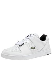 weiße niedrige Sneakers von Lacoste