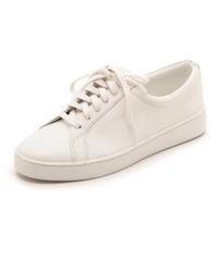 weiße niedrige Sneakers von Michael Kors