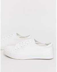 weiße niedrige Sneakers von New Look
