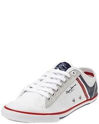 weiße niedrige Sneakers von Pepe Jeans