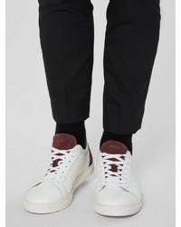 weiße niedrige Sneakers von Selected Homme