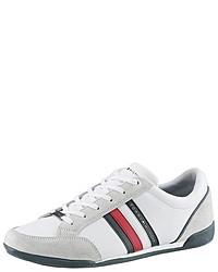 weiße niedrige Sneakers von Tommy Hilfiger