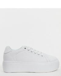 weiße niedrige Sneakers von Truffle Collection