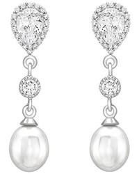 weiße Ohrringe von Carissima Gold