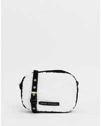 weiße Pelz Umhängetasche von Armani Exchange