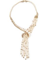 weiße Perlenkette von Erickson Beamon
