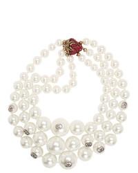 weiße Perlenkette von Gucci