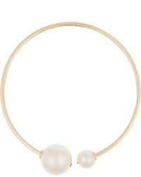 weiße Perlenkette von Kenneth Jay Lane