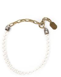 weiße Perlenkette von Lanvin
