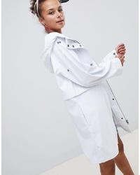 weiße Regenjacke von ASOS DESIGN