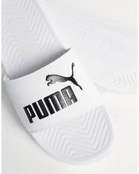 weiße Sandalen von Puma