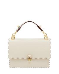 weiße Satchel-Tasche aus Leder von Fendi