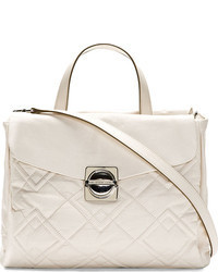 weiße Satchel-Tasche aus Leder von Marc by Marc Jacobs