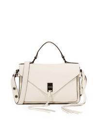 weiße Satchel-Tasche aus Leder von Rebecca Minkoff