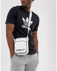 weiße Segeltuch Bauchtasche von adidas Originals