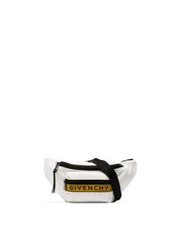 weiße Segeltuch Bauchtasche von Givenchy