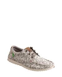 weiße Segeltuch Derby Schuhe