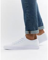 weiße Segeltuch niedrige Sneakers von ASOS DESIGN