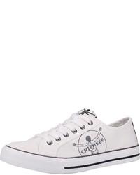 weiße Segeltuch niedrige Sneakers von Chiemsee