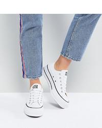 weiße Segeltuch niedrige Sneakers von Converse